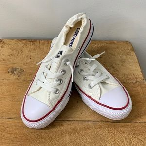 NWOT White Low Top Converse Sneakers